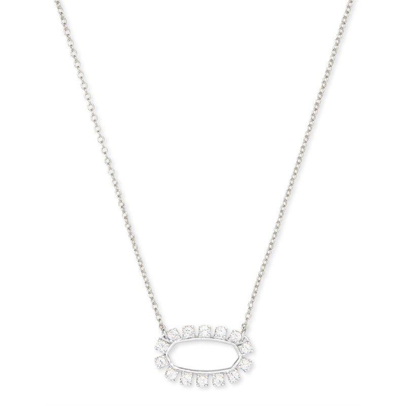 Kendra Scott Elisa Open Frame in Silver & White