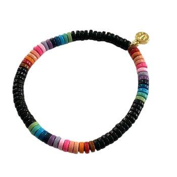 Laguna Bracelet Black Multi Rainbow