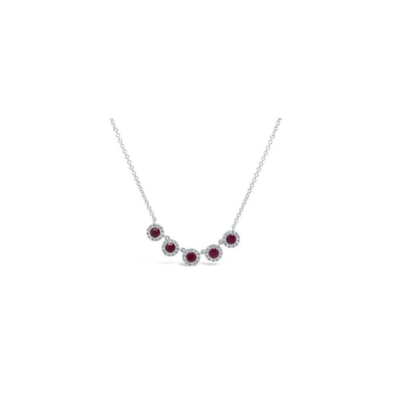 Kelley Collection  Ruby & Diamond Necklace