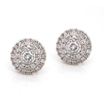 Double Halo Diamond Earrings