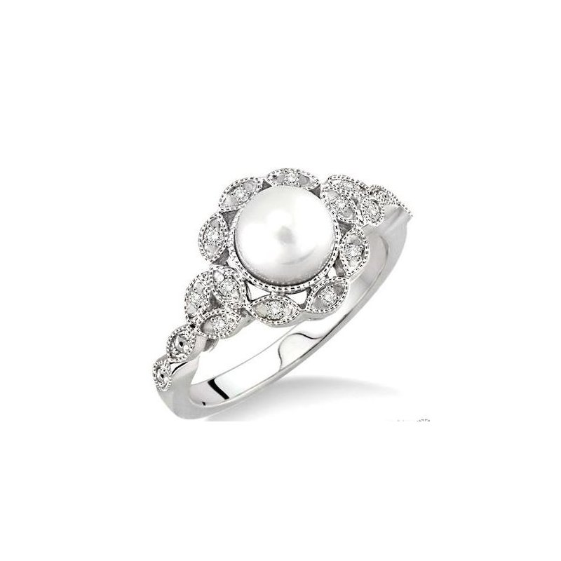 Kelley Collection  Pearl & Diamond Ring