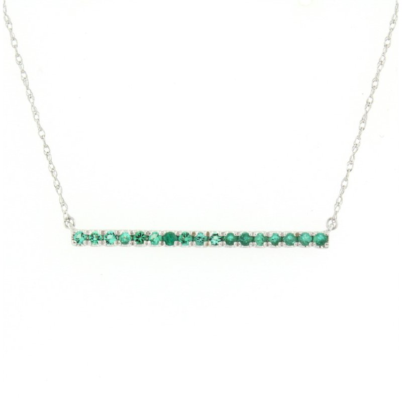 Kelley Collection  Emerald Bar Necklace