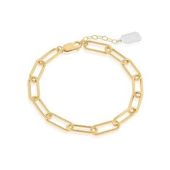 Heavy Rectangle Chain Bracelet