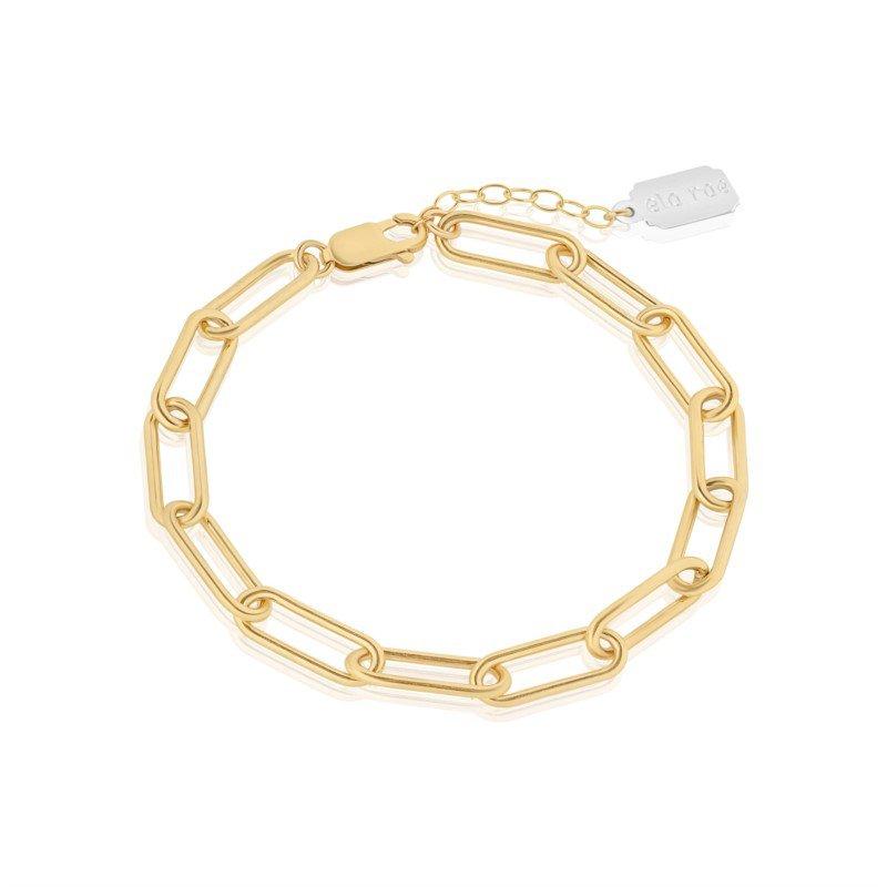 Ela Rae Jewelry, LLC Heavy Rectangle Chain Bracelet