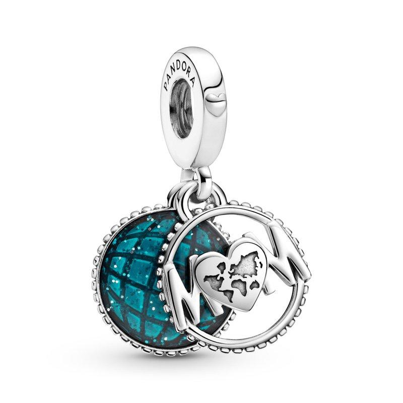 PANDORA Glitter Globe Mom Dangle Charm