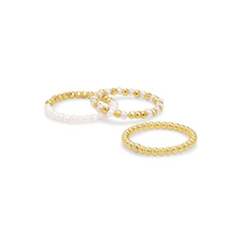 Mollie Ring Set in Mixed Metals