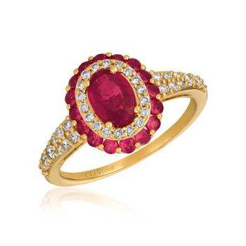 14K Honey Gold™ Passion Ruby™ and Vanilla Diamonds® Ring