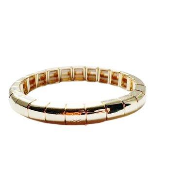 Tile Tube Bracelet-Gold