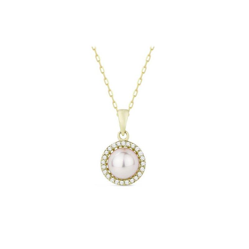 Kelley Collection  Pearl & Diamond Pendant