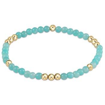 Worthy Pattern Bead Bracelet - Amazonite