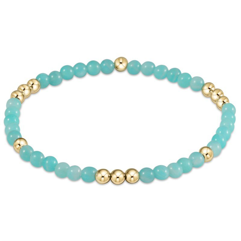 ENewton Design Worthy Pattern Bead Bracelet - Amazonite