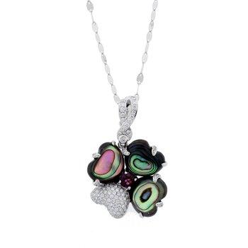 Abalone & Diamond Pendant