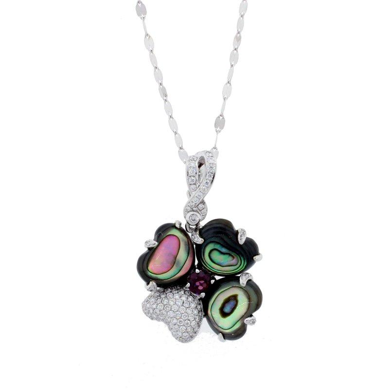 Kelley Collection  Abalone & Diamond Pendant