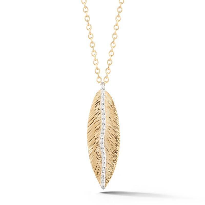 Kelley Collection  Diamond Feather Pendant