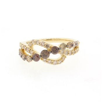 14K Honey Gold™ Chocolate Ombré Diamond® Ring