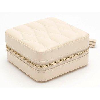 Caroline Zip Travel Jewelry Box - Ivory