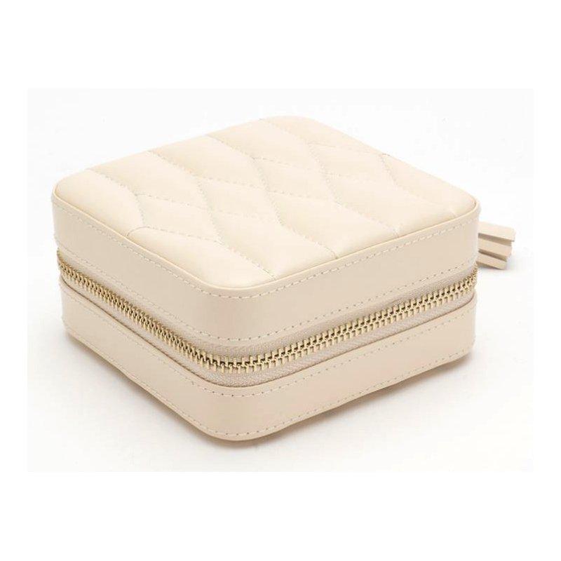 WOLF DESIGNS Caroline Zip Travel Jewelry Box - Ivory