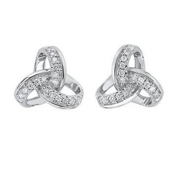 Diamond Knot Stud Earrings