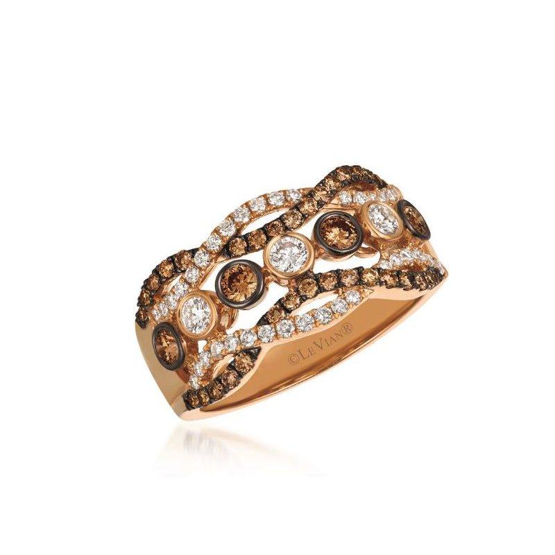 Le Vian 14K Strawberry Gold® Chocolate & Vanilla Diamond® Ring