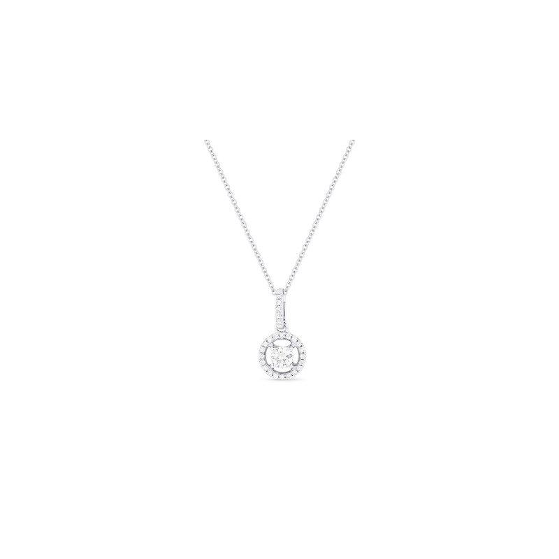 Kelley Collection  Diamond Halo Pendant