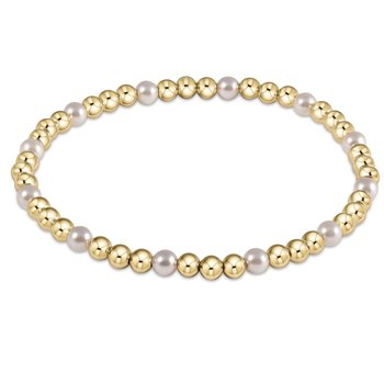 Sincerity Pattern Bead Bracelet - Pearl