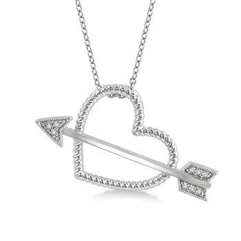 Diamond Heart & Arrow Pendant