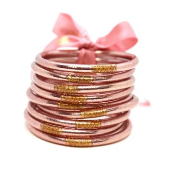 Rose Gold  All Weather Bangles in Small