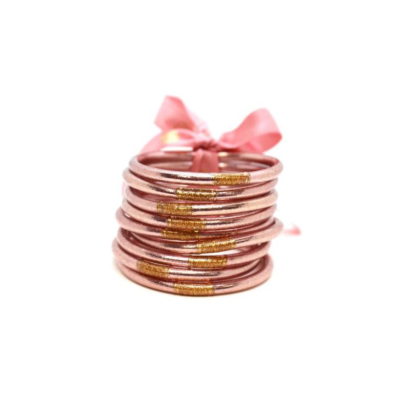 BuDhaGirl Rose Gold  All Weather Bangles in Small