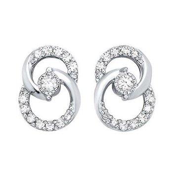 Interlocking Circle Diamond Earrings