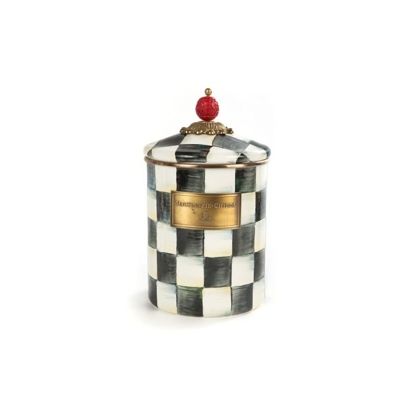 MacKenzie-Childs Courtly Check Enamel Canister - Medium