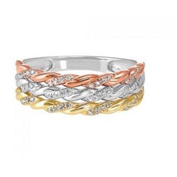 3-Row Diamond Ring