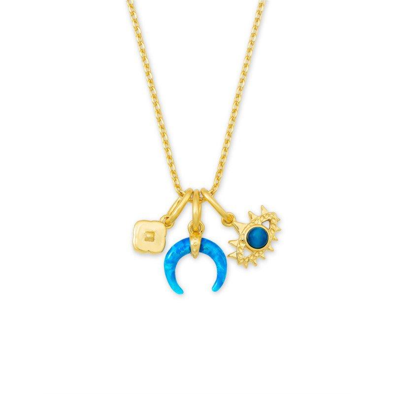 Kendra Scott Gemma Charm Necklace in Teal Mix