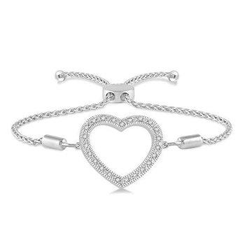 Diamond Heart Bolo Bracelet