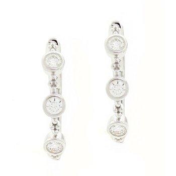 Bezel Set Hoop Earrings