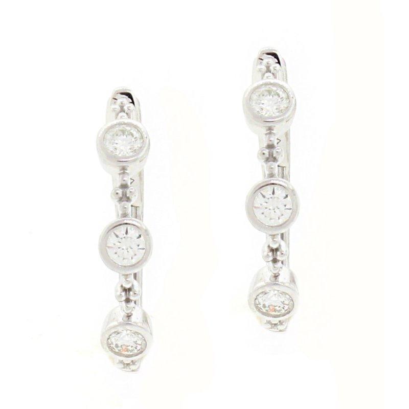 Natalie K (M.K. Diamonds & Jewelry) Bezel Set Hoop Earrings