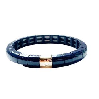 Tile Tube Bracelet-Navy