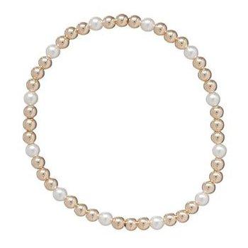 Gold Sincerity Bracelet in Pearl