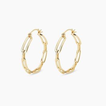 Parker Link Hoop Earrings