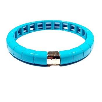 Tile Tube Bracelet-Aqua