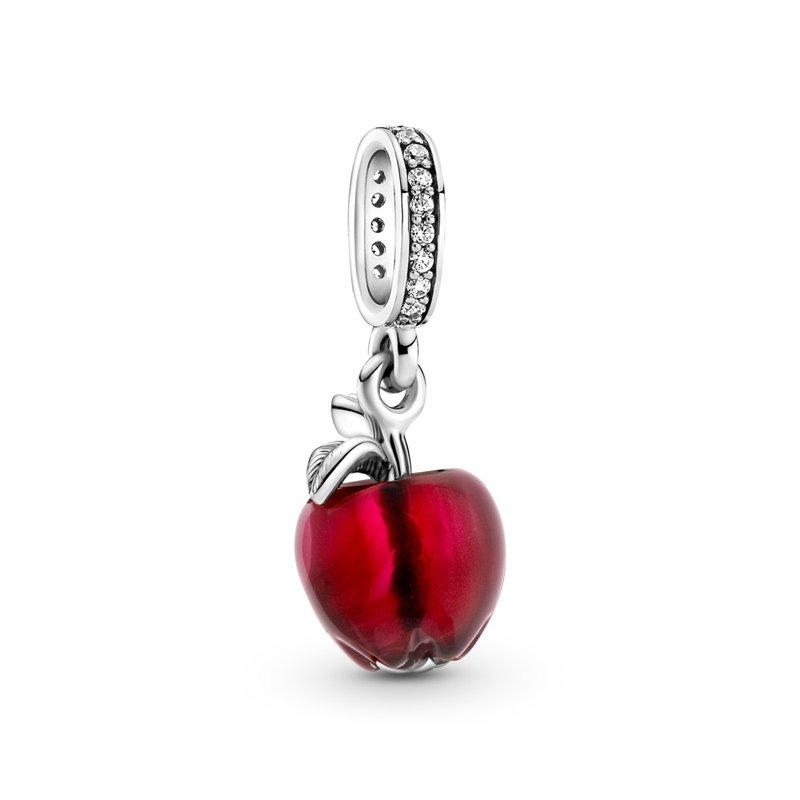 PANDORA Murano Glass Red Apple Dangle Charm