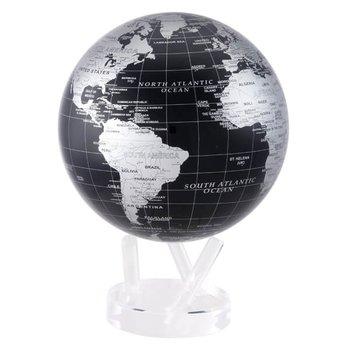 "8.5"" Silver & Black Metallic Globe"