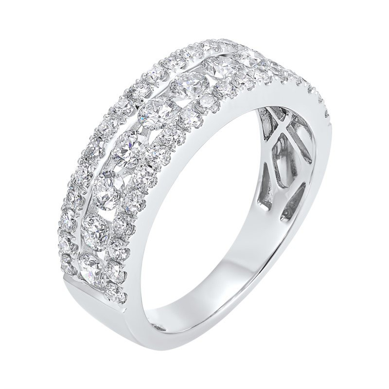 Kelley Collection  3-Row Diamond Band