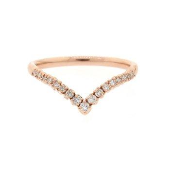 Diamond Chevron Ring