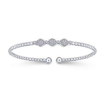 Bujukan Diamond Beaded Cuff Bracelet