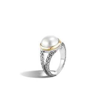 Pearl Split Band Ring