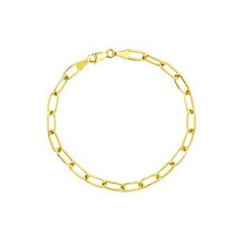 Gold Paperclip Bracelet