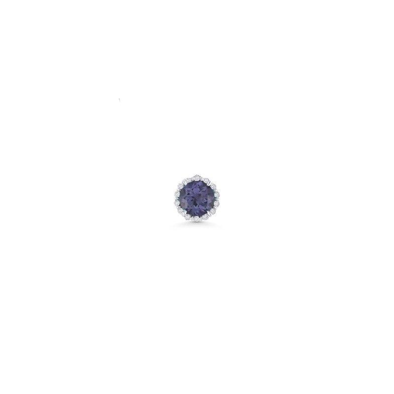 Kelley Collection  Alexandrite & Diamond Halo Pendant