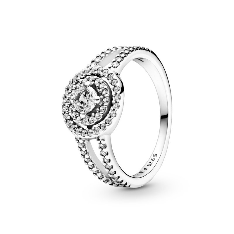 PANDORA Sparkling Double Halo Ring