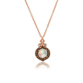 14K Strawberry Gold®  Neopolitan Opal™ Pendant