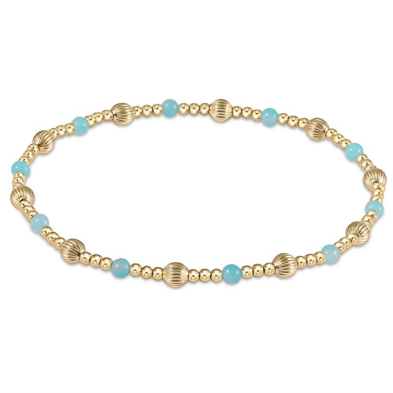 ENewton Design Dignity Sincerity Pattern Bead Bracelet - Amazonite